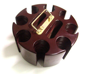 200pc Wooden Poker Chip Carousel
