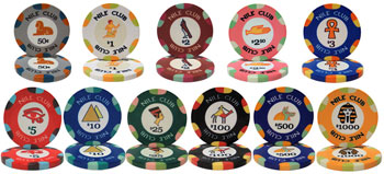 Nile Club Poker Chips
