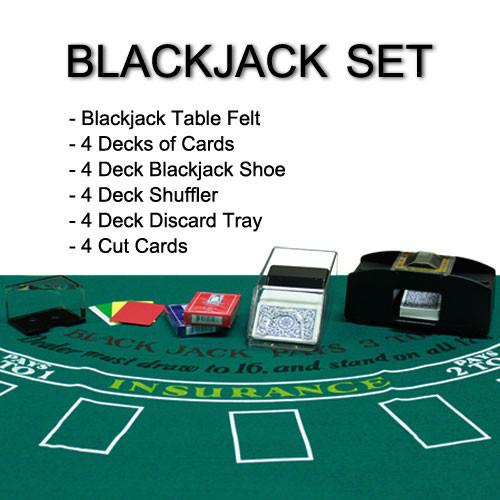 Blackjack accessories set