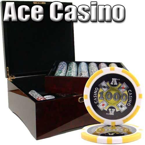 casino ace poker chips set