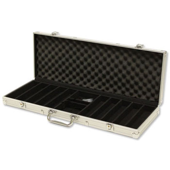 500pc Aluminum Poker Chip Case