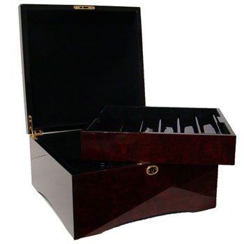 750 Chip Mahogany Poker Chip Case