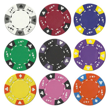 Ace King Suited Poker Chip Sets