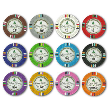 Bluff Canyon Poker Chips