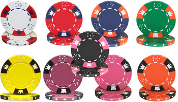 Crown & Dice Poker Chips