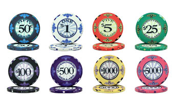 Scroll Ceramic Poker Chips