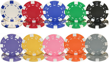 Striped Dice Poker Chips